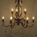 Rental store for CHANDELIER, 9 LIGHT BROWN W CRYSTALS in Sudbury ON