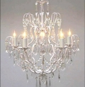 Rental store for CHANDELIER, 5 LIGHT WHITE  W CRYSTALS in Sudbury ON